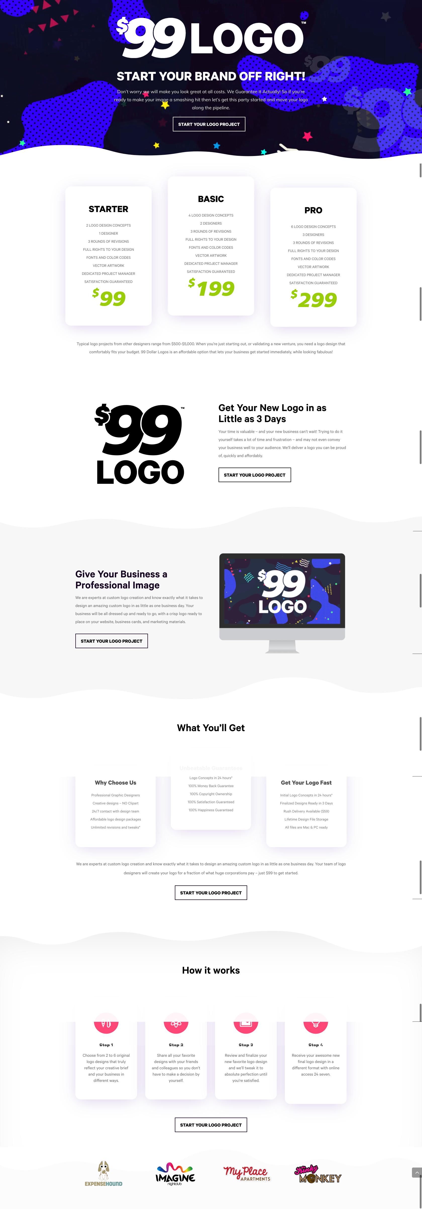 $99 Dollar Logo Website
